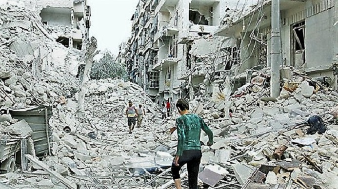 Halep'te İnsanlık Katledilmektedir